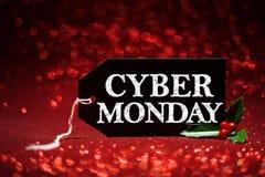 Etichetta cyber di vendita di lunedì Fotografia Stock