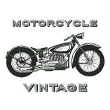 Etichetta d'annata del motociclo Immagini Stock Libere da Diritti