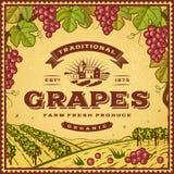 Etichetta d'annata dell'uva