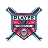 Etichetta d'annata della lega minore di baseball Immagine Stock Libera da Diritti