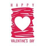 Etichetta d'annata felice di giorno di biglietti di S. Valentino Illustrazione di Stock