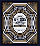 Etichetta d'annata per whiskey Potete applicare questa progettazione per un altro Fotografie Stock Libere da Diritti