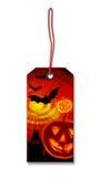 Etichetta d'attaccatura Halloween Fotografie Stock Libere da Diritti