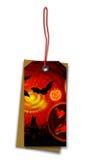 Etichetta d'attaccatura Halloween Fotografia Stock Libera da Diritti