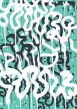 Etichetta dei graffiti illustrazione di stock