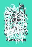 Etichetta dei graffiti royalty illustrazione gratis