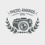 Etichetta dei premi della foto Immagine Stock