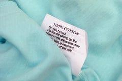 Etichetta dei vestiti Immagine Stock