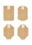Etichetta del cartone Fotografia Stock