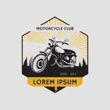 Etichetta del club del motociclo Simbolo del motociclo Icona di Motocycle Immagini Stock Libere da Diritti