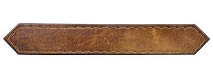 Etichetta del cuoio dell'etichetta dei jeans fotografia stock libera da diritti