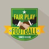 Etichetta del distintivo del fairplay Immagine Stock