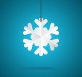 Etichetta del fiocco di neve Fotografia Stock Libera da Diritti