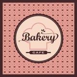 Etichetta del forno sul modello rosa 0066 Fotografie Stock