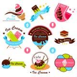 Etichetta del gelato Immagini Stock