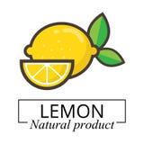 Etichetta del limone Fotografie Stock