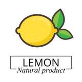Etichetta del limone del fumetto Immagine Stock