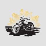 Etichetta del motociclo Simbolo del motociclo Icona di Motocycle Immagini Stock