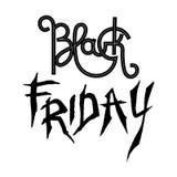Etichetta del nero di vendita di Black Friday, insegna, disegno pubblicitario, Fotografia Stock Libera da Diritti