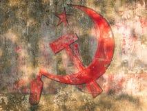 Etichetta del partito comunista Immagini Stock