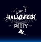 Etichetta del partito di Halloween Illustrazione di Stock
