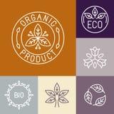 Etichetta del prodotto biologico di vettore nel profilo Immagine Stock Libera da Diritti