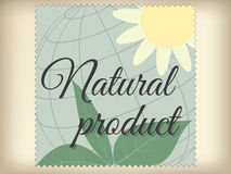 Etichetta del prodotto naturale. Fotografia Stock