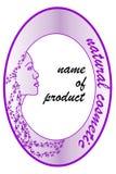 Etichetta del prodotto per i cosmetici naturali illustrazione di stock
