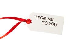 Etichetta del regalo con testo Fotografie Stock