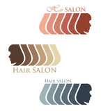 Etichetta del salone di capelli Fotografia Stock
