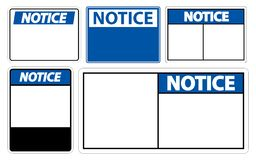 etichetta del segno dell'avviso di simbolo di insieme di simboli su fondo bianco royalty illustrazione gratis