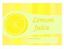 Etichetta del succo di limone Immagini Stock Libere da Diritti