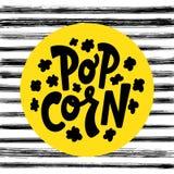Etichetta del testo del popcorn Rebecca 36 Illustrazione di vettore illustrazione di stock