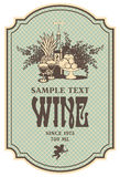 Etichetta del vino Fotografia Stock