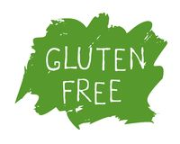 Etichetta dell'alimento del glutine e distintivi liberi del prodotto di qualità Bio- Ecohealthy organico, 100 bio- ed icona del p illustrazione di stock