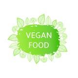 Etichetta dell'alimento del vegano, forma Fotografia Stock Libera da Diritti