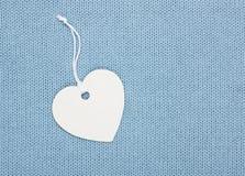 Etichetta dell'etichetta di forma del cuore Fotografia Stock