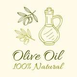 Etichetta dell'olio d'oliva Fotografie Stock Libere da Diritti