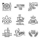 Etichetta della bevanda e dell'alimento biologico royalty illustrazione gratis