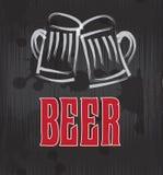Etichetta della birra Fotografia Stock