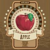Etichetta della frutta Immagini Stock