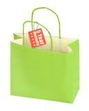 Etichetta della garanzia e del sacchetto della spesa Immagini Stock