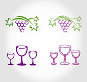 Etichetta della lista di vino illustrazione di stock