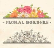 Etichetta della pagina del fiore di vettore Fotografia Stock
