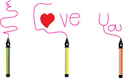 Etichetta della penna per amore e felice fotografie stock libere da diritti