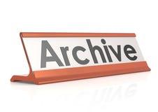 Etichetta della tavola dell'archivio Fotografia Stock
