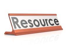Etichetta della tavola delle risorse Fotografie Stock Libere da Diritti