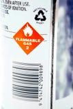 Etichetta di avvertimento Fotografia Stock Libera da Diritti