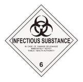 Etichetta di avvertimento contagiosa della sostanza Fotografia Stock Libera da Diritti