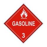 Etichetta di avvertimento della benzina Fotografie Stock